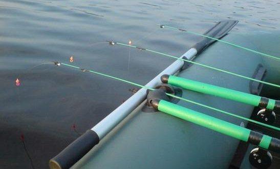 Бортовая удочка и другие методы ловли с лодки