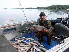 Рыбацкая база на Онежском озере